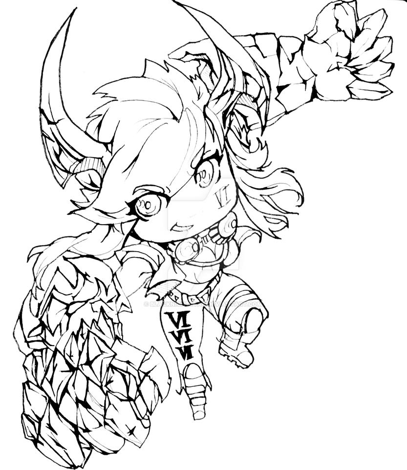 Demon Vi Chibi by BlackNightStar