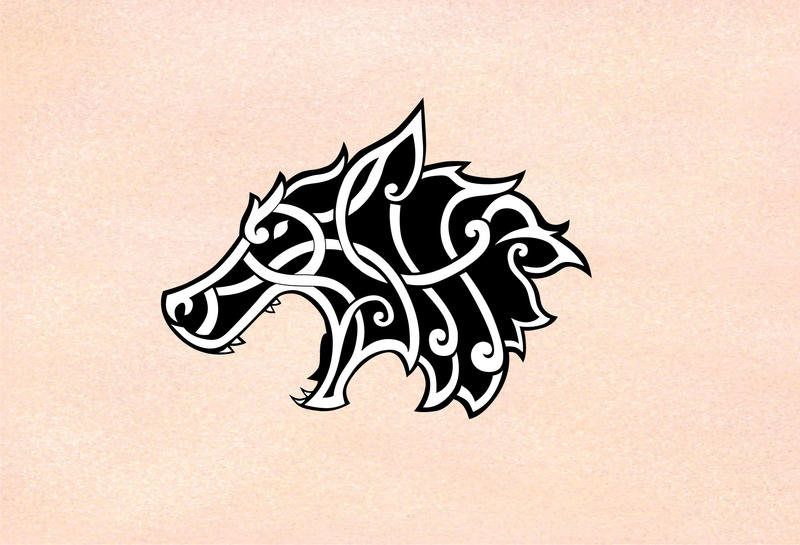 Celtic/viking wolf by RoBs0n on DeviantArt