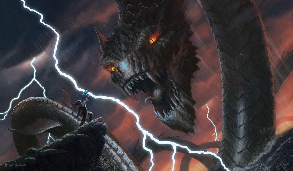 Ragnarok - Thor's last battle by RoBs0n