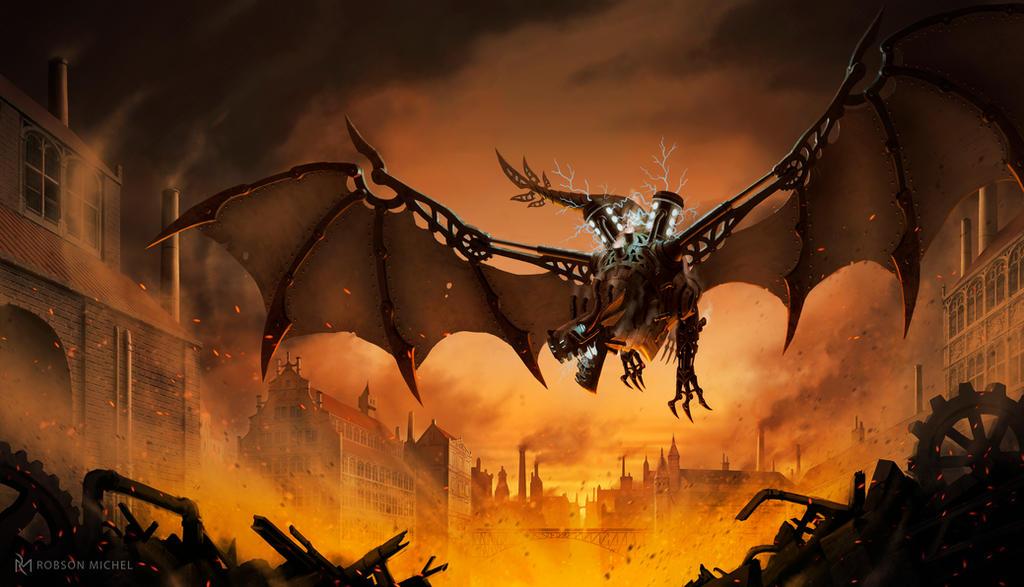 Steampunk Dragon by RoBs0n
