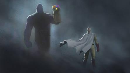 Saitama vs Thanos by RoBs0n