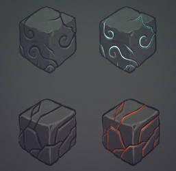Rock Cubes Concept art