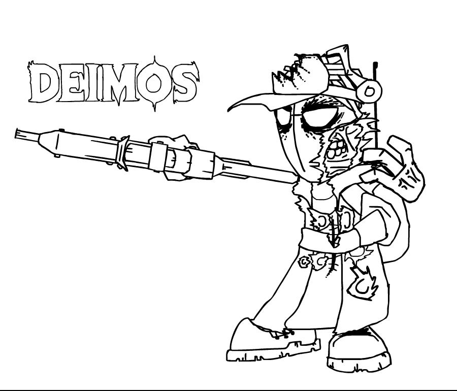 Undead Deimos lineart by Madmanaryf on DeviantArt