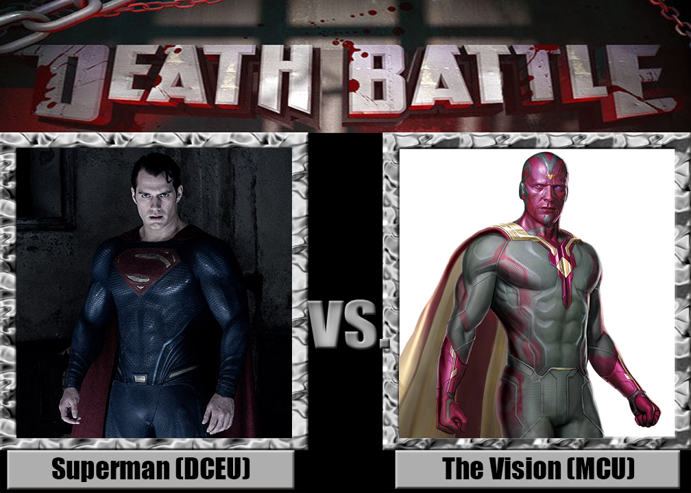Death Battle Superman Dceu Vs The Vision Mcu By Netherman14