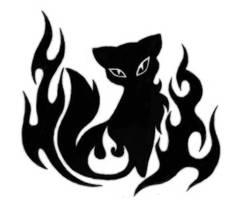 Cat tattoo - BnW by Meownyx