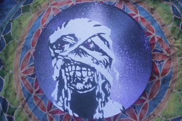 Iron Maiden Eddie Stencil Vinyl By Opiumwalls On Deviantart