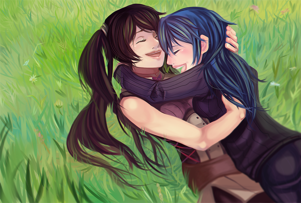 The gallery for --> Lucina And Palutena Kiss