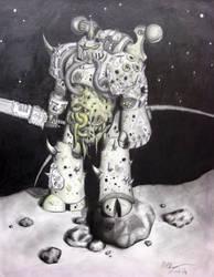 Warhammer 40k Plaguemarine by Cheezjet