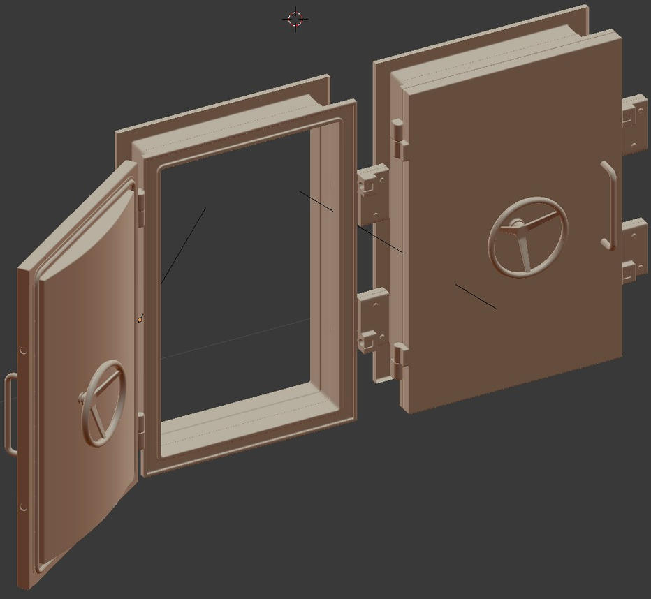 Armored Door High Poly by Cheezjet ... & Armored Door High Poly by Cheezjet on DeviantArt