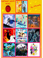 My Top 10 Animated TV shows by Franken-XANA