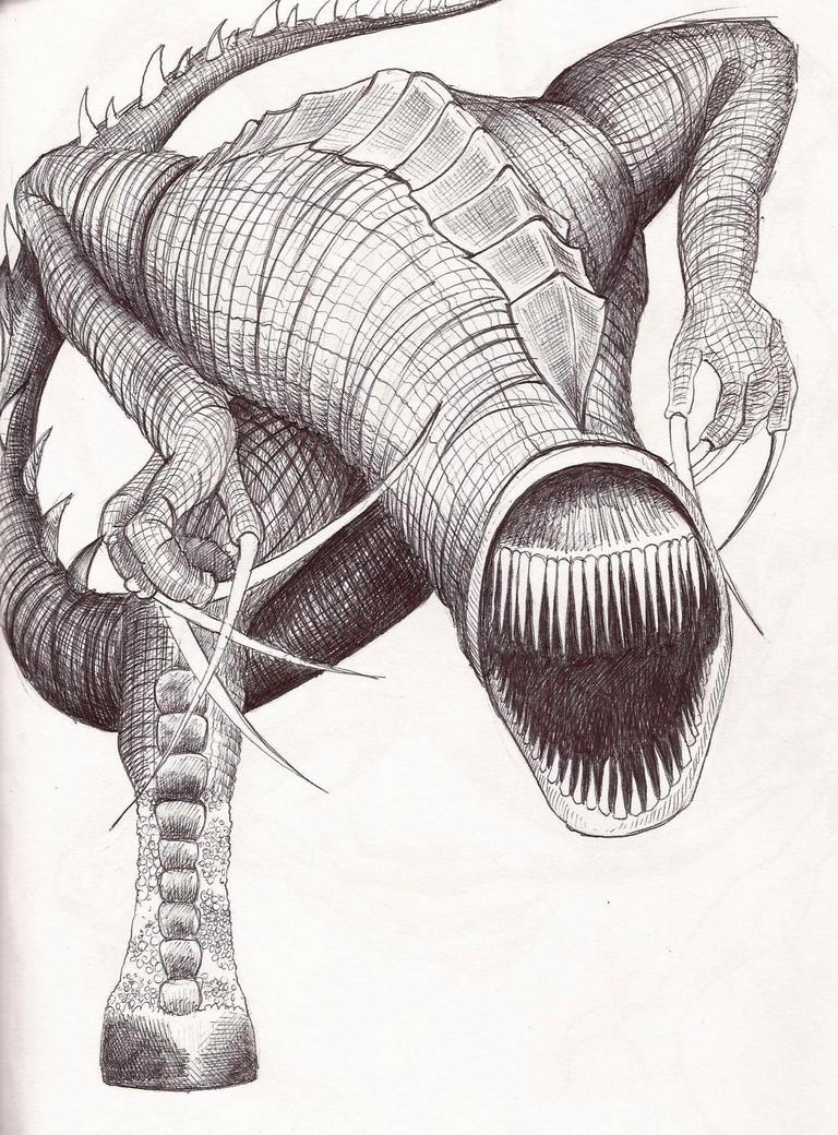 D Line Drawings Quest : Deltora quest dinosaur by j rayner on deviantart