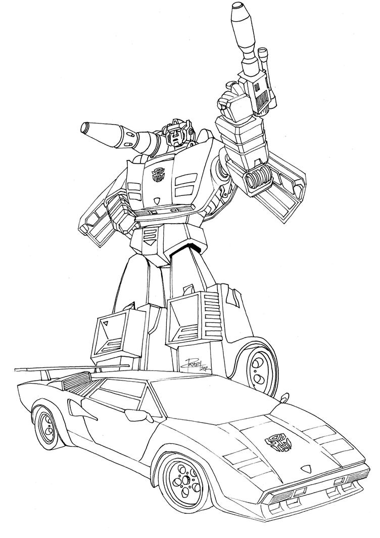 Transformers Coloring Pages Side Swipe Bangs