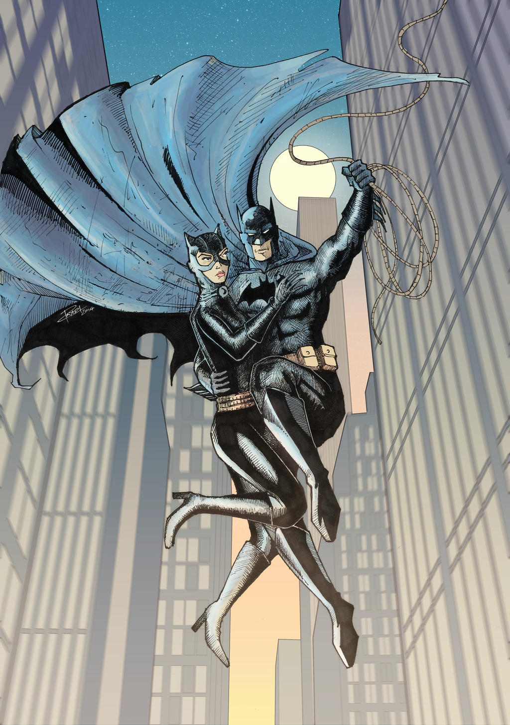 Batman and Catwoman by J-Rayner