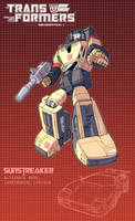 Sunstreaker poster by J-Rayner