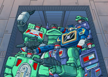 Soundwave and the Constructicons by J-Rayner