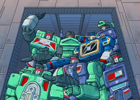 Soundwave and the Constructicons