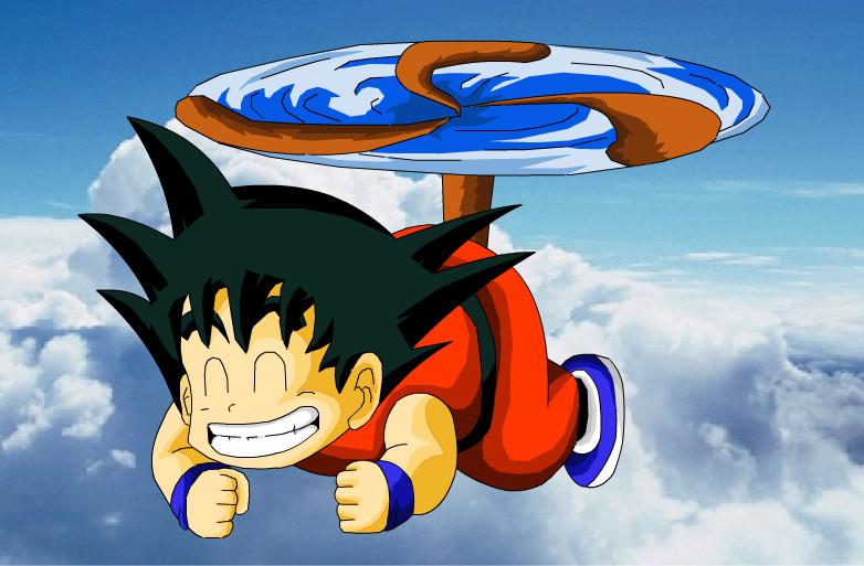 kid goku on flying - photo #6