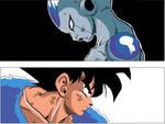 Goku Vs Frieza - colour