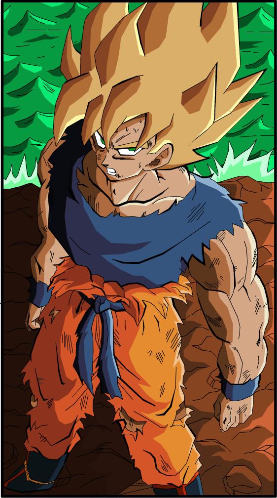 2000 pageviews Goku SSJ1 by eggmanrules