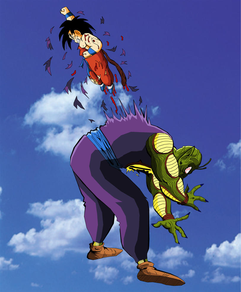 Kid Goku kills King Piccolo by eggmanrules