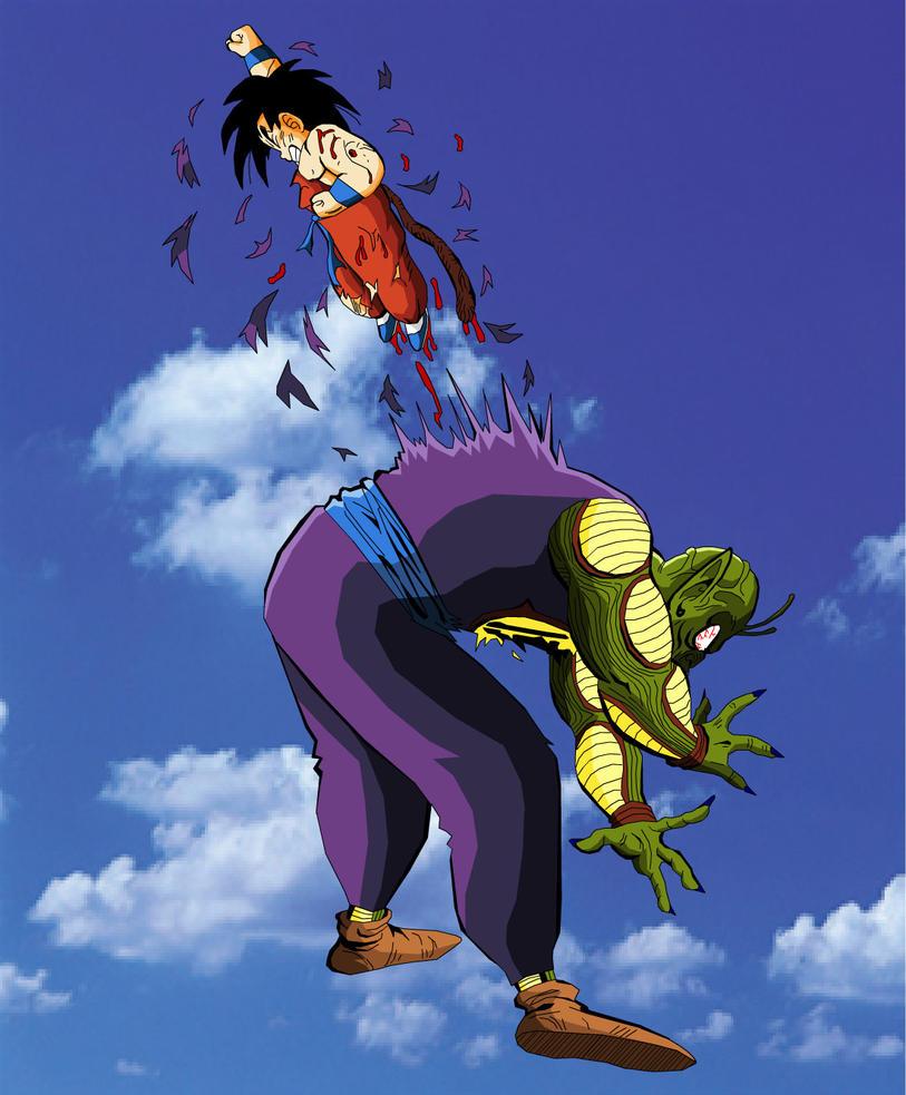 Kid Goku kills King Piccolo by eggmanrules