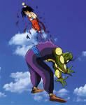 Kid Goku kills King Piccolo