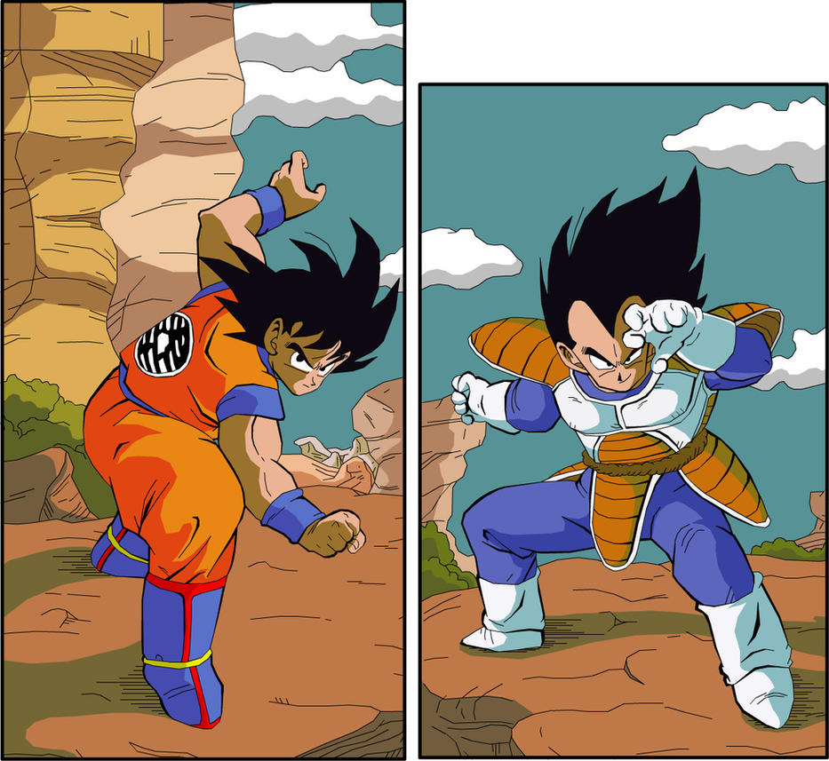 Goku Vs Vegeta by eggmanrules