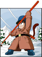 Kid Goku - Red Ribbon Saga by eggmanrules