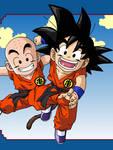 Goku and Krillin by eggmanrules
