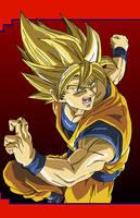 Goku - Super Saiyan by eggmanrules
