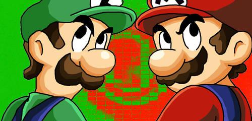 Mario and Luigi by eggmanrules