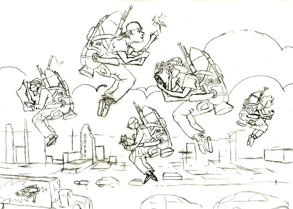 Jet Packs (sketch) by shastasnow