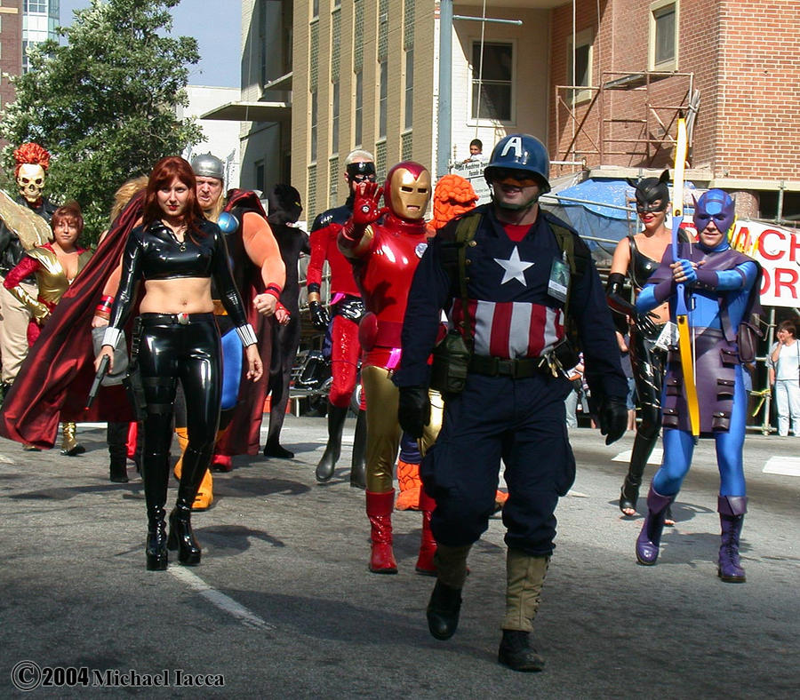 Superheroes Marching 1 by Insane-Pencil