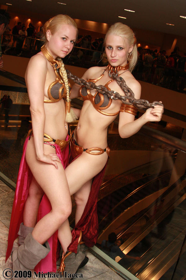 Princess Leia slave girls 2 by Insane-Pencil