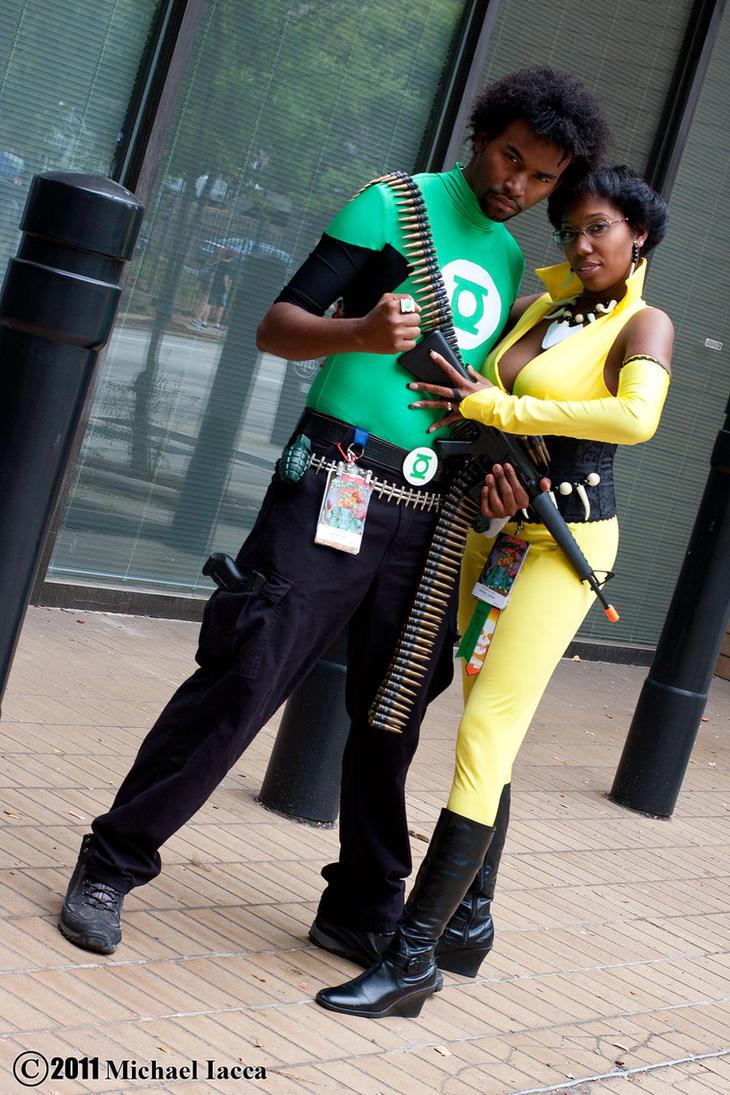 Green Lantern and Vixen 1 by Insane-Pencil