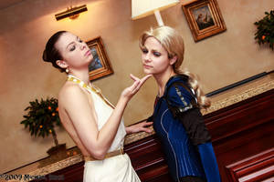 Excella Gionne and Jill Valentine 1