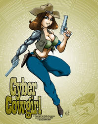 Cyber Cowgirl by GraphicBrat