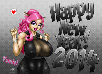 Fumie's 2014 Happy New Year by GraphicBrat