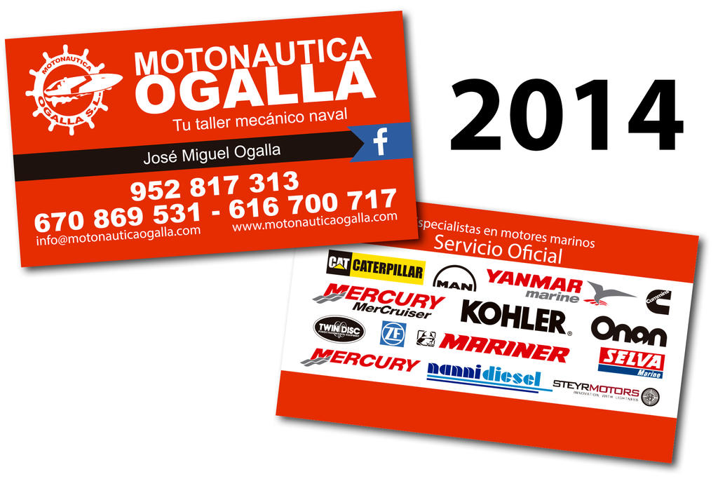 Tarjeta de visita MOTONAUTICA OGALLA '14 by pofezional