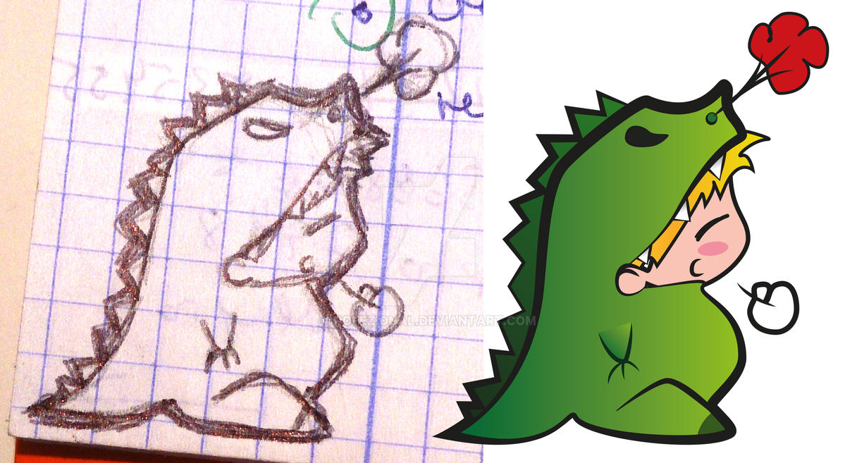 Dinosaurio Malita Elli by pofezional