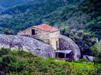 House between rocks - Corsica by zeitspuren