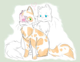 Warriors: Brightheart x Cloudtail by LooseEndss