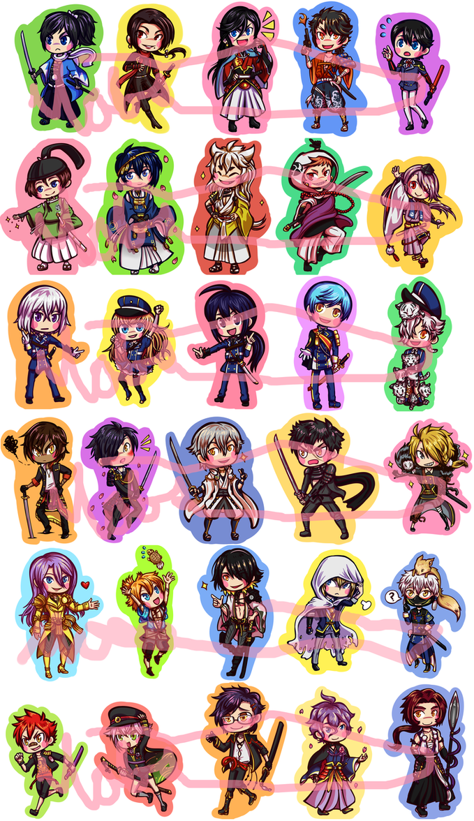 Touken Ranbu - Stickers by Tacotits
