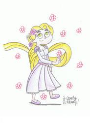 Dorothea as Rapunzel by CandyRandy7D