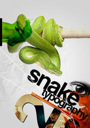 Snake Typography by pinarcildam