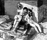 Hadine and her mattress-mate-1 by passocorto