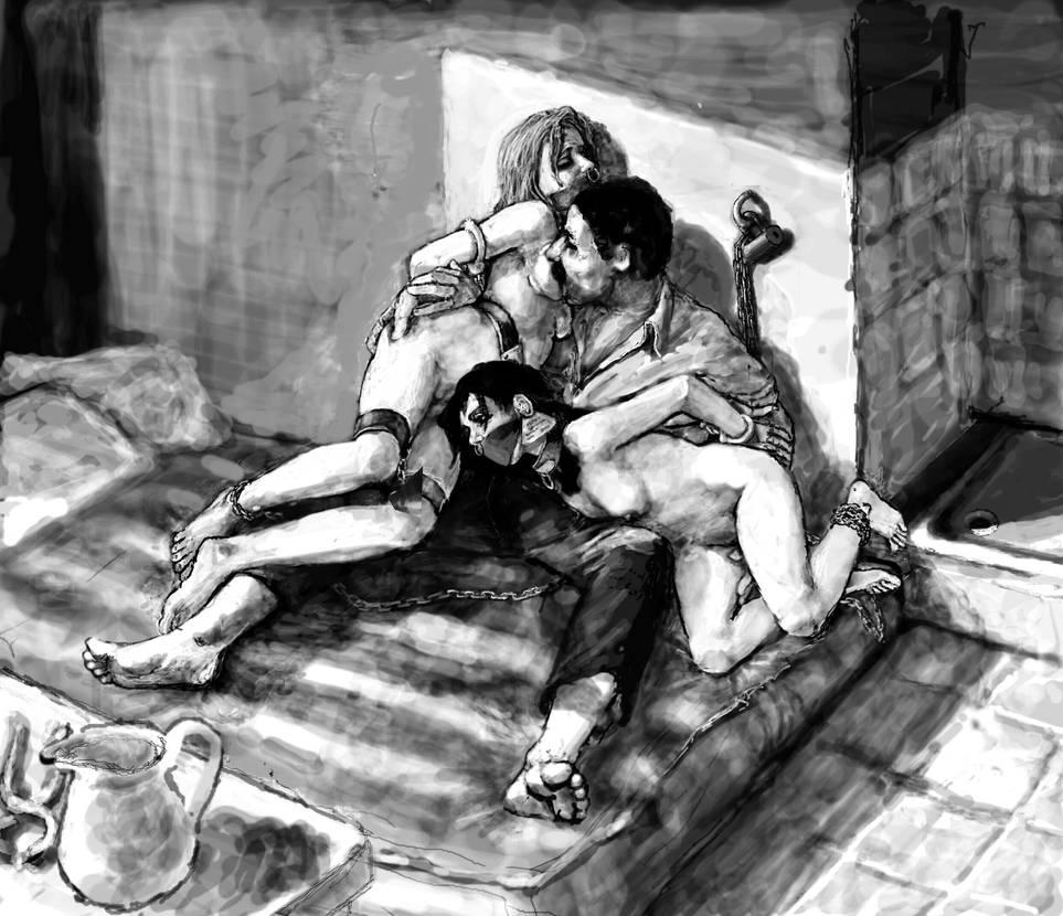 Hadine and her mattress-mate-2 by passocorto