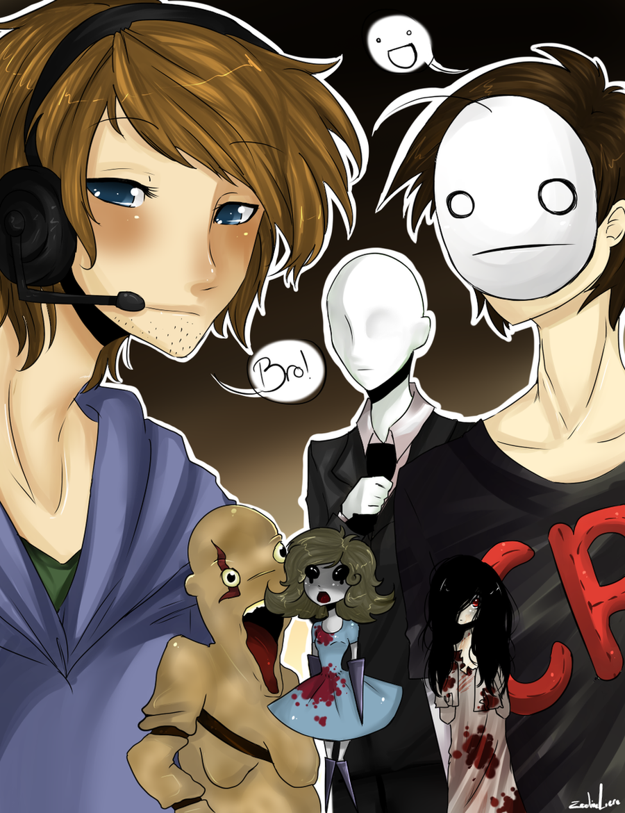 PewDiePie and Cry by milkie-nommi