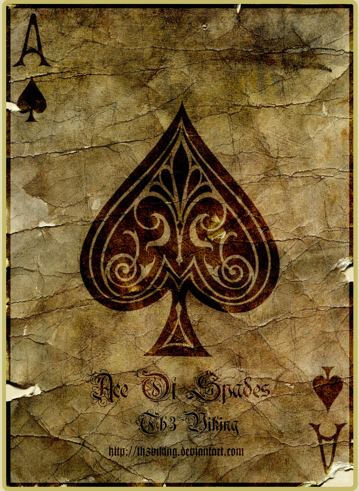 Ace Of Pentacles Images On Pinterest: Ace Of Spades By Th3Viking On DeviantArt