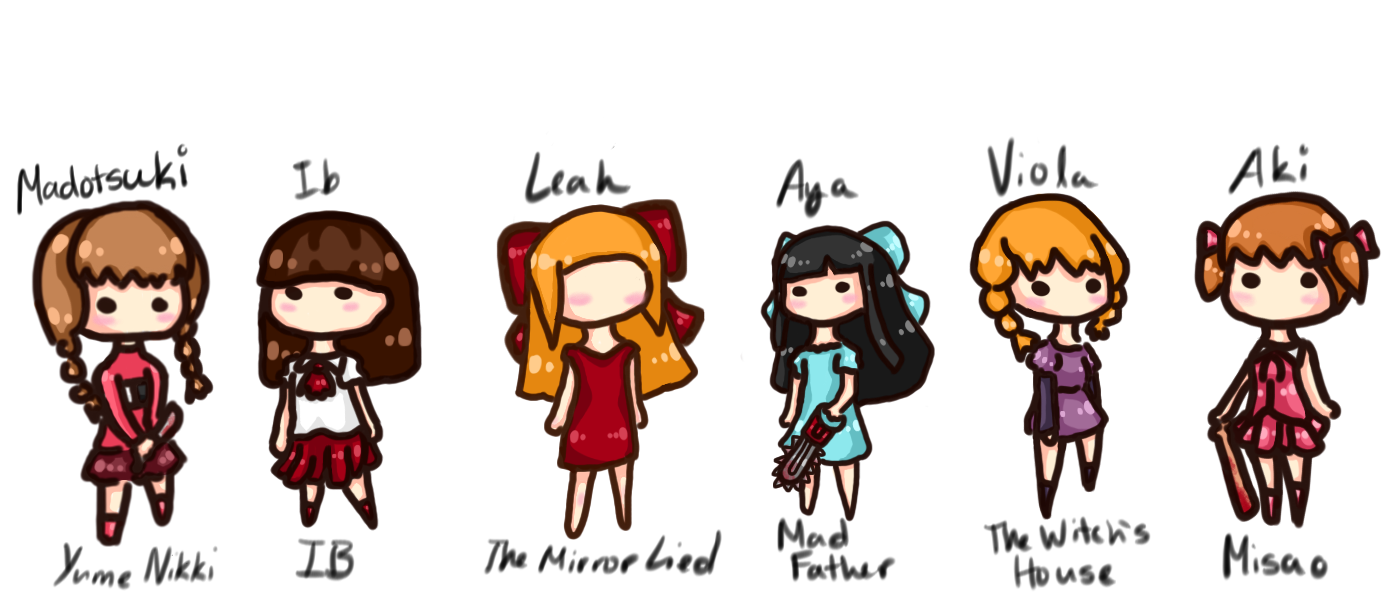 Horror game girls by fairybluesoul horror game girls by fairybluesoul